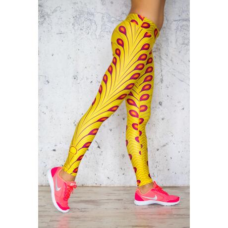 Nicci Yellow hosszú leggings