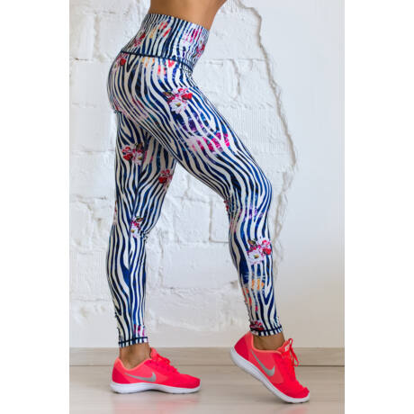 Nicci Zebra hosszú leggings