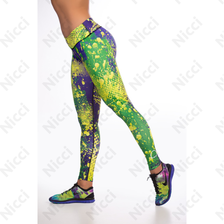 Nicci Greeny hosszú mintás leggings XL Thermo